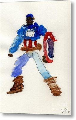 Captain America Metal Print by Vincent Gitto