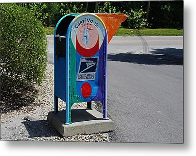 Metal Print featuring the photograph Captiva Island Mailbox- Horizontal by Michiale Schneider