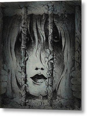 Captive I Metal Print by Rachel Christine Nowicki
