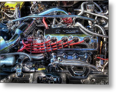 Car - Engine - Car Intestines Metal Print by Mike Savad