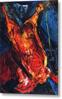 Carcass Of Beef Metal Print by Pg Reproductions