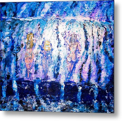 Metal Print featuring the painting Carefree by Piety Dsilva