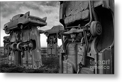 Carhenge Nebraska 18 Metal Print by Bob Christopher