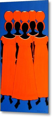 Caribbean Orange Metal Print by Stephanie Moore