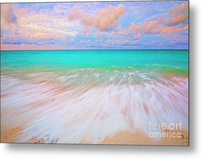 Caribbean Sea At High Tide Metal Print by Charline Xia