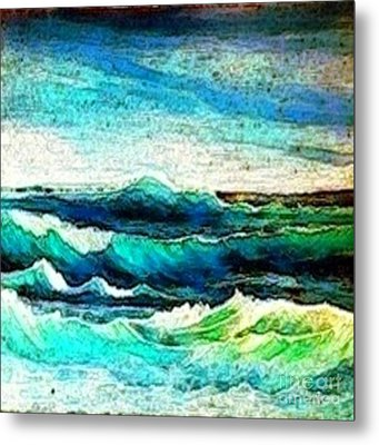 Caribbean Waves Metal Print