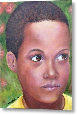 Caribe Child Metal Print by Merle Blair