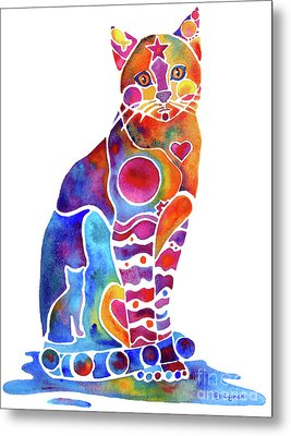 Carley Cat Metal Print by Jo Lynch