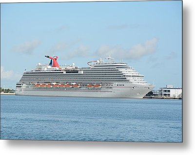 Metal Print featuring the photograph Carnival Magic At Port Canaveral by Bradford Martin