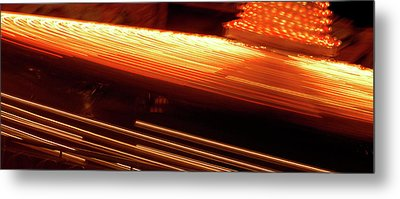 Carnival Ride Lights Metal Print