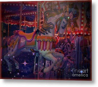 Carousel Horse Metal Print by Annie Gibbons