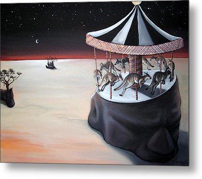 Carousel In The Head Metal Print by Charlotte Oedekoven