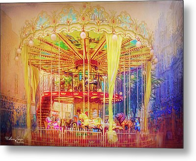 Metal Print featuring the photograph Carousel by Wallaroo Images