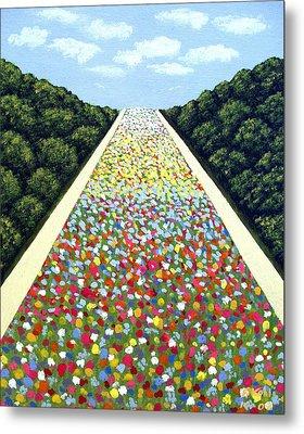 Carpet Of Flowers Metal Print by Frederic Kohli