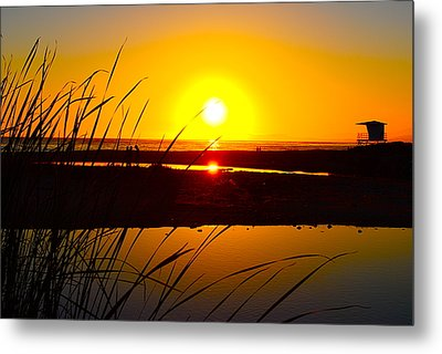 Carpinteria State Beach Metal Print by Bransen Devey