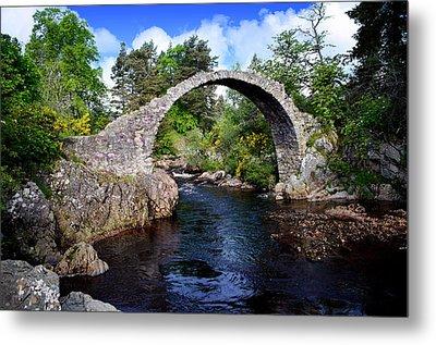 Carr Bridge Scotland Metal Print by Don and Bonnie Fink