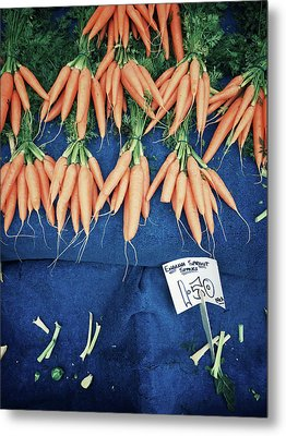 Carrots At The Market Metal Print