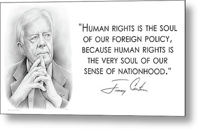 Carter On Human Rights Metal Print by Greg Joens
