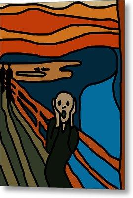 Cartoon Scream Metal Print by Jera Sky