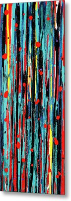 Metal Print featuring the painting Cascade Pour by Carolyn Repka