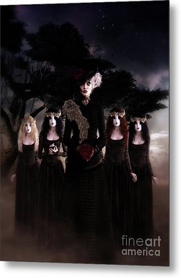 Metal Print featuring the digital art Casquette Brides by Shanina Conway