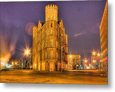 Cass Castle Detroit Mi Metal Print