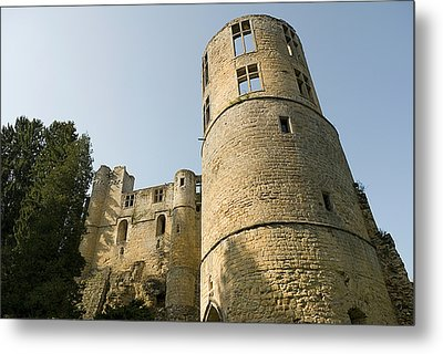 Metal Print featuring the photograph Castle - Ardennes - Luxembourg by Urft Valley Art