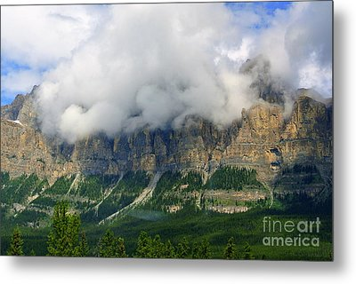 Castle Mountain Metal Print by Elfriede Fulda