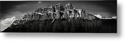 Castle Mountain Panoramic Metal Print