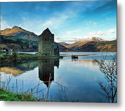 Castle On The Loch Metal Print by Lynn Bolt