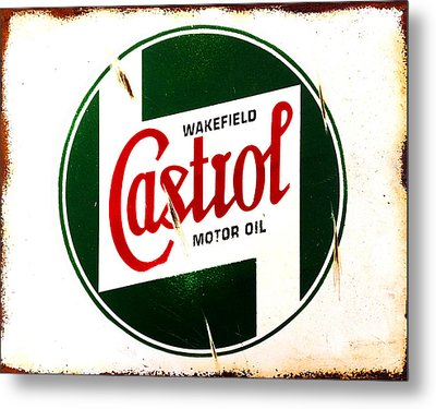 Castrol Motor Oil Metal Print by Mark Rogan