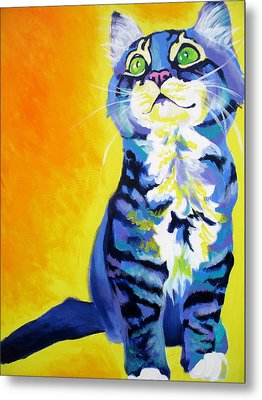 Cat - Here Kitty Kitty Metal Print by Alicia VanNoy Call