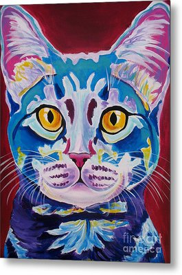 Cat - Mystery Reboot Metal Print by Alicia VanNoy Call