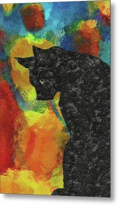 Cat Abstract Metal Print