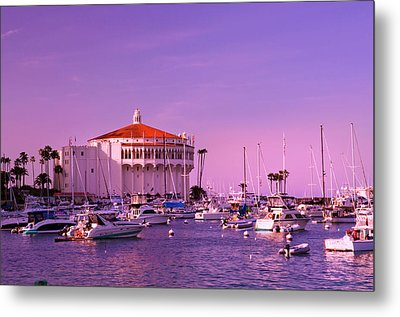 Catalina Casino Metal Print by Marie Hicks