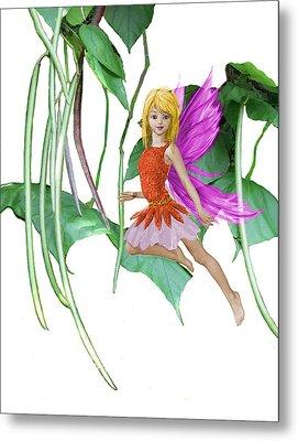 Catalpa Tree Fairy Among The Seed Pods Metal Print