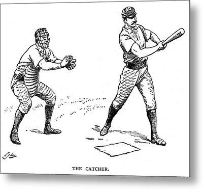 Catcher & Batter, 1889 Metal Print by Granger