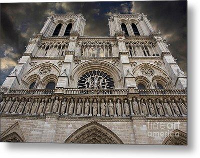 Cathedral Notre Dame Of Paris. France   Metal Print by Bernard Jaubert