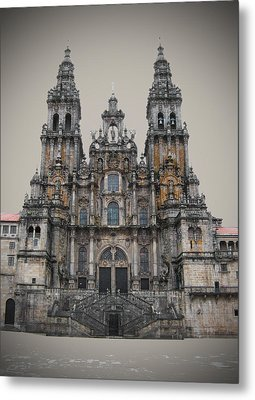 Cathedral Of Santiago De Compostela Metal Print by Jasna Buncic