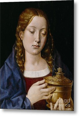 Catherine Of Aragon As The Magdalene Metal Print by Michiel Sittow