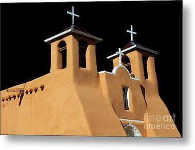 St Francis De Assi Church  New Mexico Metal Print by Bob Christopher