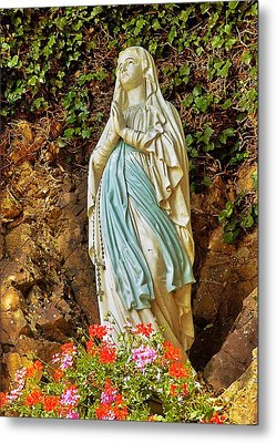 Metal Print featuring the photograph Catholic Nun by Elf Evans