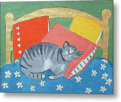 Catnap Metal Print by Christine Quimby