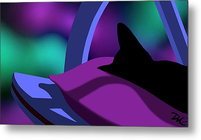 Metal Print featuring the digital art Catnip by Tom Dickson
