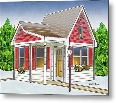 Catonsville Santa House Metal Print by Stephen Younts