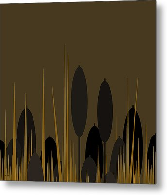 Cattails Metal Print by Val Arie