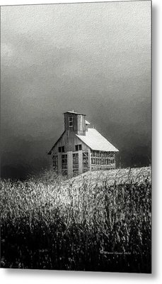 Cattle Feed For The Winter Metal Print by Marvin Spates