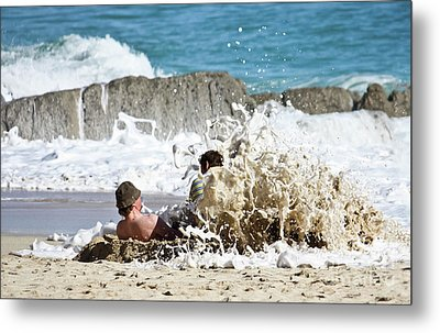 Metal Print featuring the photograph Caught From Behind by Terri Waters