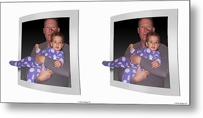 Cece - Gently Cross Your Eyes And Focus On The Middle Image Metal Print by Brian Wallace