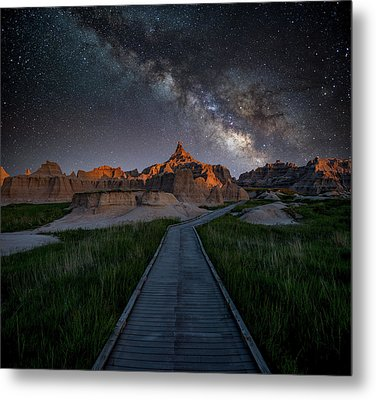 Metal Print featuring the photograph Cedar Pass Milky Way by Darren White